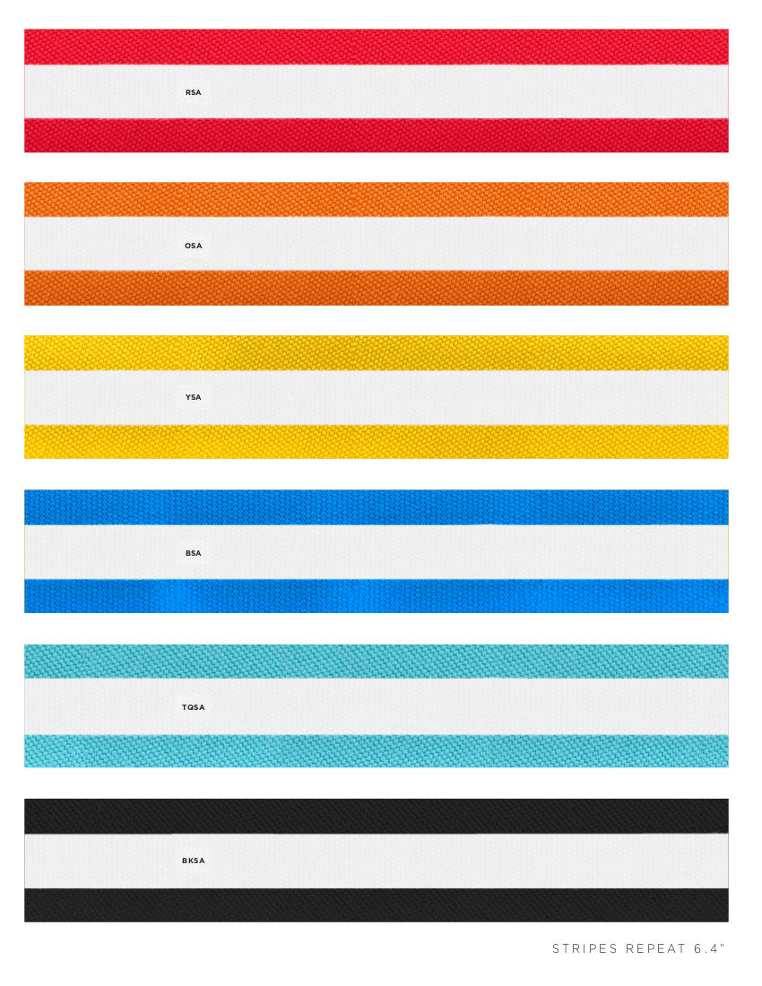 Striped Fabric Colors