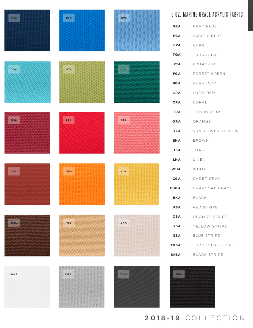 Solid Fabric Colors