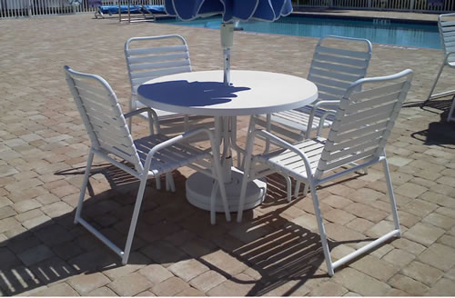 Strap Patio Chairs Outdoor Dining Armchairs Discount