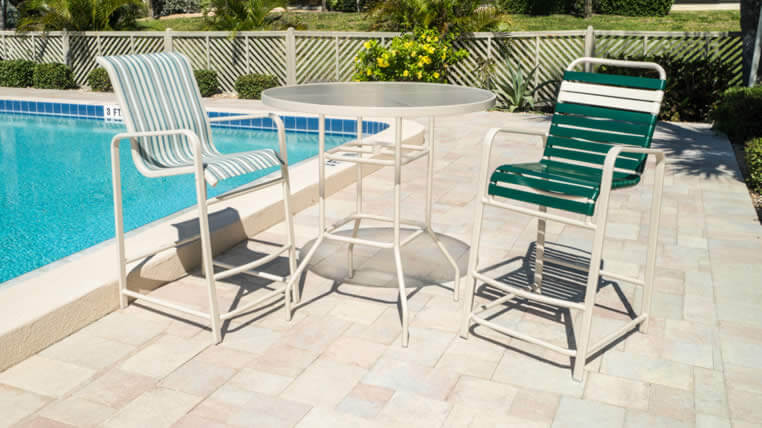 commercial pool furniture patio furniture repair refinishing a k enterprise. Black Bedroom Furniture Sets. Home Design Ideas