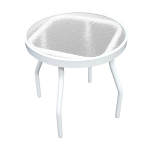 A18-2 Acrylic 18-in. Round Outdoor Side Table