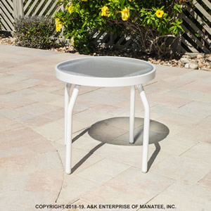 A18 Acrylic 18-inch Round Outdoor Side Table