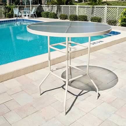 ABH42 Acrylic 42-in. Round Bar Height Patio Table