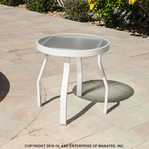 AR18-2 Acrylic 18-inch Round Outdoor Side Table