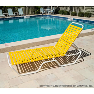 C120 Strap Patio Chaise Lounge