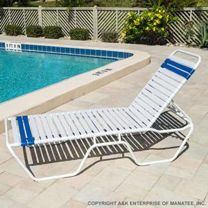 SALE: C140 14-inch Strap Chaise Lounge