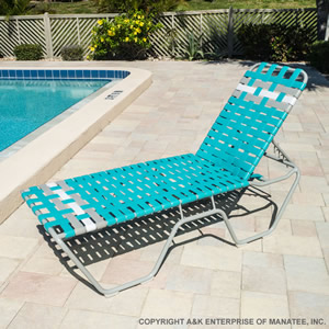 C160B 16-inch Basketweave Strap Chaise Lounge