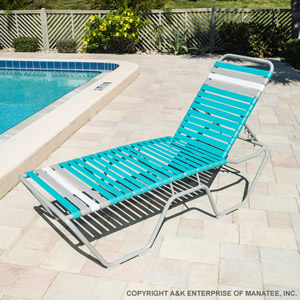 C160 16 Inch Strap Chaise Lounge Commercial Pool