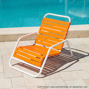 Vinyl Strap Patio Furniture Commercial Aluminum Pool