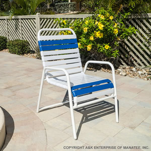 C 50 Strap Patio Dining Chair Commercial Grade Pool