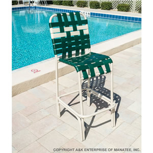 C75B Basketweave Strap Patio Bar Stool