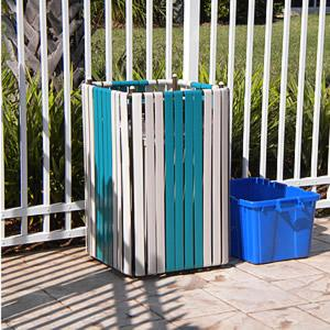 C99 Patio Trash Can Holder