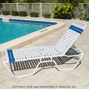 C140 14 Inch Strap Chaise Lounge Commercial Pool Furniture A Amp K Enterprise