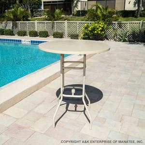 Round Bar Height Patio Table