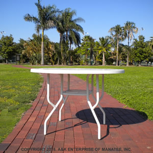 FL36 Fiberglass 36-inch Round Outdoor Table