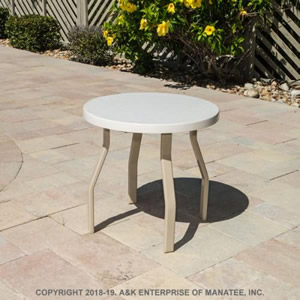 FR18-2 Fiberglass 18-in. Round Outdoor Side Table