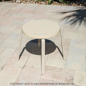 FR18 Fiberglass 18-in. Round Outdoor Side Table