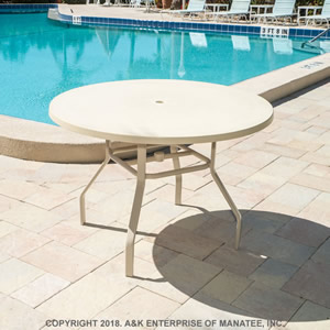 FR36 Fiberglass 36-inch Round Outdoor Table