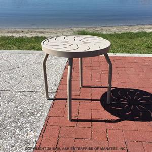 Ptc18 Aluminum 18 In Round Metal Patio Side Table
