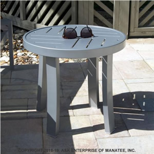 PTD18 18-in. Round Metal Side Table