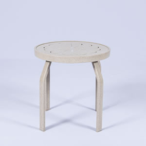 PTR18 Aluminum 18-in. Round Metal Patio Side Table