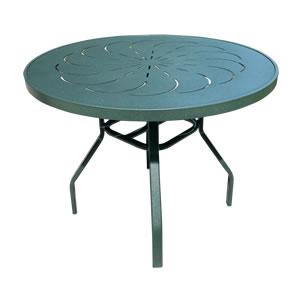 Ptr48 Punch Top 48 In Round Aluminum Patio Table Commercial Grade