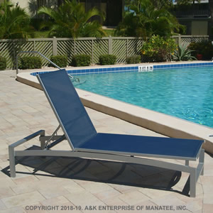 SD140 14-inch Sling Chaise Lounge