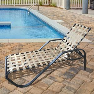 W145B 14-inch Basketweave Chaise Lounge