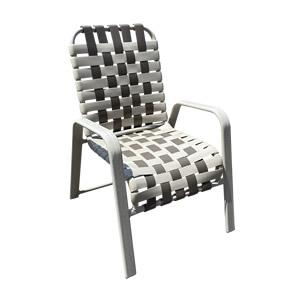 W50B Basket-weave Strap Dining Chair