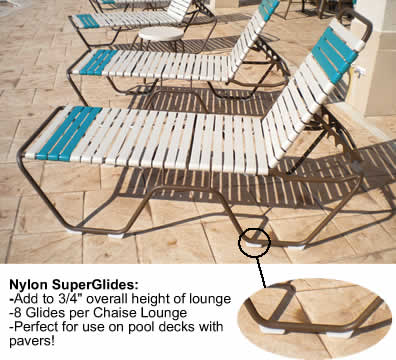 Nylon Super Glides For Patio Chaise Lounges A Amp K Enterprise