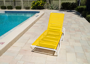 C120 12 inch high commercial pool lounge