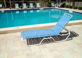C120B Basket-weave strap 12-inch high lounge chair