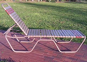 C140 brown outdoor chaise lounge