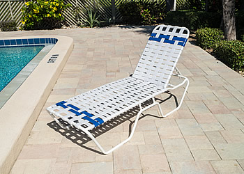 C140B cross strap chaise lounger
