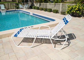 C145B weave design outdoor chaise lounge