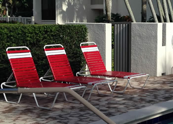 C160 commercial aluminum outdoor chaise lounge