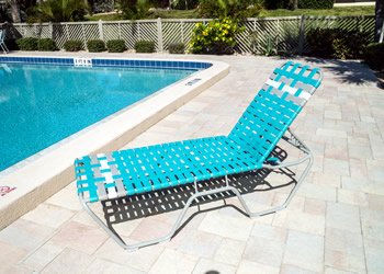 C160B heavy duty outdoor chaise lounge