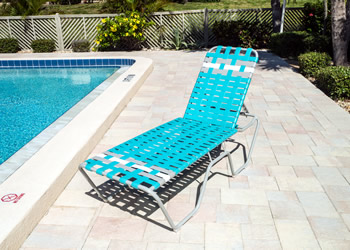 C160B reclining outdoor tanning lounge
