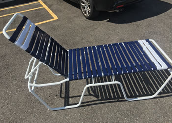 C200 aluminum chaise lounge 20-inches high