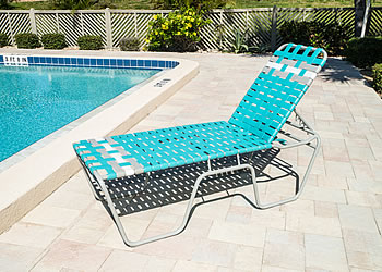 C200B tall poolside lounge chair for seniors
