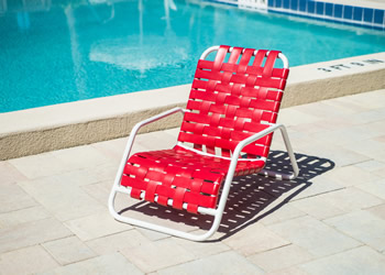 commercial cross-strap grade beach and pool chair