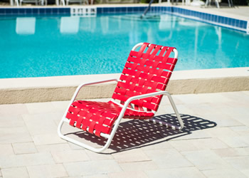 C40B woven strap contract poolside tanning chair