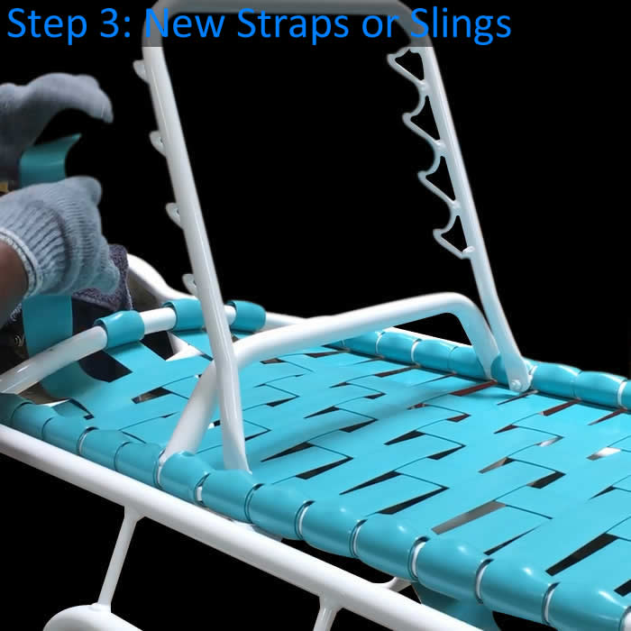 Elegant 3. New Vinyl Strapping: New Vinyl Straps Will Be Custom Cut And Installed  Using The Double Wrapping Method And Attached With Nylon Rivets.