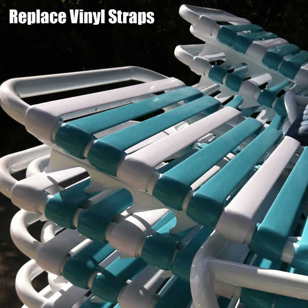 Restrapping Patio Furniture · Restrapping