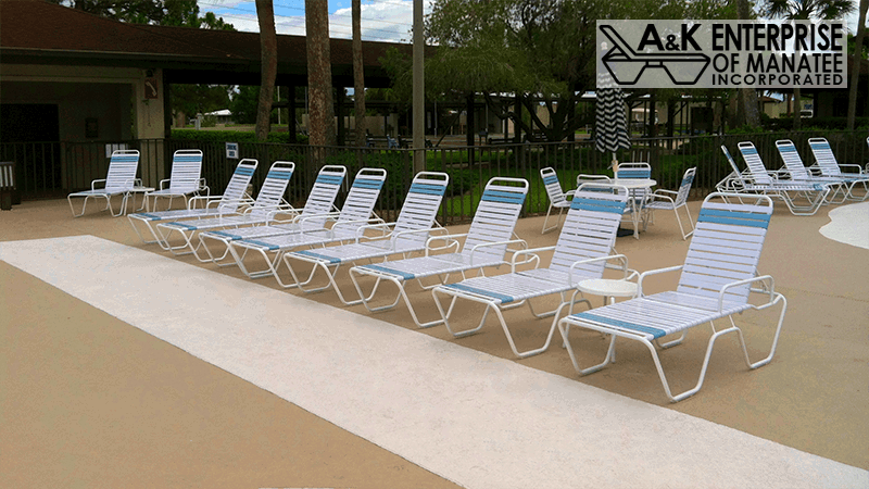 New Commercial Patio Furniture Refinishing Restrapping